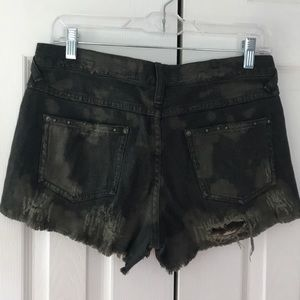 Free people studded distressed shorts